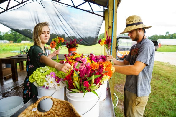 Laurie Beth and Andrew Kesterson have quickly made a name for their organic farm, Belle Meadow. (Mark Sandlin/Alabama NewsCenter)