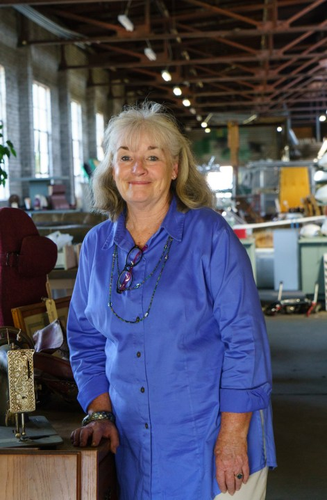 Carole King is curator of Rescued Relics and Old Town Alabama. (Mark Sandlin / Alabama NewsCenter)