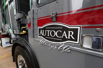 Autocar showcased some of its vehicles in downtown Birmingham after announcing its $120 million plant. (Bruce Nix / Alabama NewsCenter)