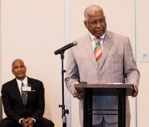 Birmingham Mayor William Bell addresses the first Birmingham Housing Summit. (Christopher Jones/Alabama NewsCenter)