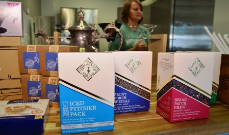 Piper & Leaf teas can be found online, at area farmers markets like Pepper Place in Birmingham or at Piper & Leaf stores in Huntsville, Madison and Birmingham's Woodlawn neighborhood. (Michael Tomberlin / Alabama NewsCenter)