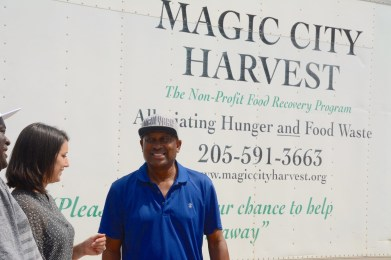 Carlye Dudgeon has been a board member of Magic City Harvest for over 10 years. (Karim Shamsi-Basha/Alabama NewsCenter)