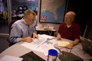 Alabama Power officials coordinate the company's response to Hurricane Ivan in 2004. (File)