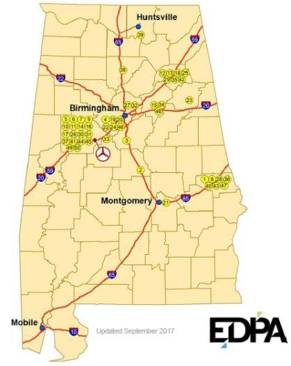 Mercedes suppliers in Alabama. (Source: EDPA)