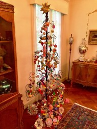 Pappas learned how to make origami ornaments and has decorated a Christmas tree with them. (Bob Blalock/Alabama NewsCenter)