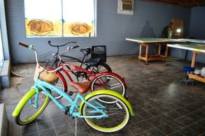Some bicycles refurbished and decorated by Garland Farwell. (Anne Kristoff/Alabama NewsCenter)