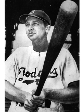 """Fred """"Dixie"""" Walker (1910-1982) was a Major League Baseball player whose career started in Alabama during the late 1920s when he was signed by the minor league Birmingham Barons. Walker went on to play for the Yankees, White Sox, Tigers, Dodgers, and Pirates, retiring in 1948. His lifetime batting average was .306 and he was a five-time All-Star. (From Encyclopedia of Alabama, Courtesy of the Alabama Sports Hall of Fame)"""