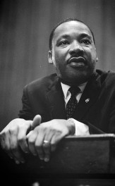 Martin Luther King at a press conference, Mar. 26, 1964. (Photograph by Marion Trikosko, Library of Congress Prints and Photographs Division)
