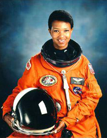 Astronaut Mae C. Jemison served as a science mission specialist on the Space Shuttle Endeavour. She logged 190 hours, 30 minutes, and 23 seconds in space and returned, with the rest of the Endeavour crew, to Earth on September 20, 1992. Born in Decatur, Morgan County, Jemison has been a tireless advocate for science education and space exploration. (From Encyclopedia of Alabama, photo courtesy of the National Aeronautics and Space Administration)
