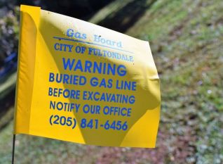 Check for underground and overhead utilities before digging. (Donna Cope/Alabama NewsCenter)