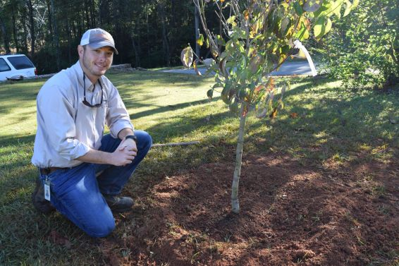 Lipscomb finds satisfaction in a job well done. (Donna Cope/Alabama NewsCenter)