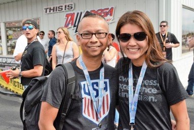 Dr. Julian Maha stands by his wife, Dr. Michele Maha, a finalist for the NASCAR Foundation's Betty Jane France Humanitarian Award. The honor goes to those who are working for children's causes in their communities. A winner will be announced Nov. 30. The Mahas started Kulturecity, an autism acceptance charity (www.kulturecity.org), that will receive $100,000 if it wins. (Karim Shamsi-Basha / Alabama NewsCenter)