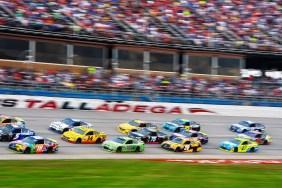 Drivers compete at the Alabama 500 at Talladega Superspeedway on Sunday. (Karim Shamsi-Basha / Alabama NewsCenter)