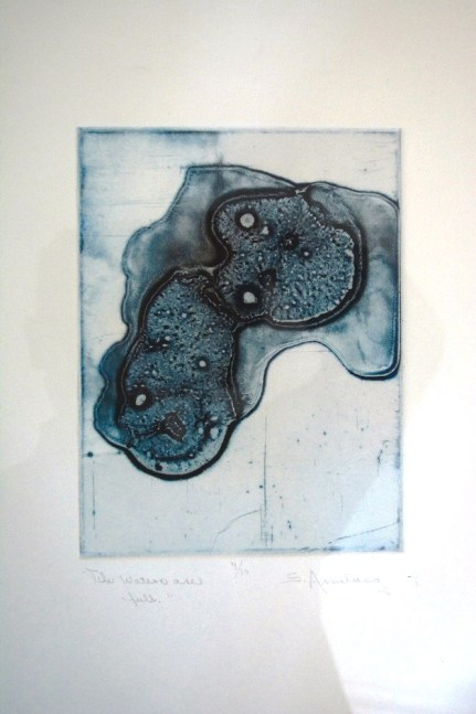 A print by artist Sara Armstrong. (Karim Shamsi-Basha / Alabama NewsCenter)