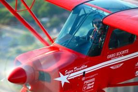 Greg Koontz flies his Super Decathlon in a recent airshow. (Greg Koontz)