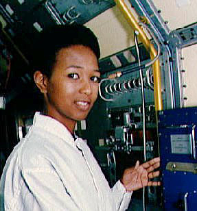American astronaut Mae Jemison at Florida's Kennedy Space Center, Jan. 1992. (Image credit: NASA)
