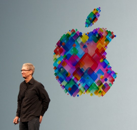 Tim Cook at WWDC Convention, 2012. (Mike Deerkoski, Wikipedia)