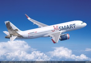 Indigo Partners' deal includes A320neo planes for JetSmart Airlines. (Airbus)
