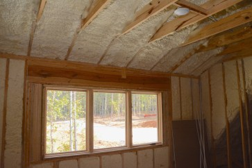 Spray foam insulation. (Karim Shamsi-Basha / Alabama NewsCenter)