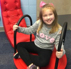 The sensory room helps children relax. (Donna Cope/Alabama NewsCenter)