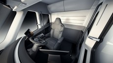 The cabin of the new Tesla electric Semi. (Tesla)