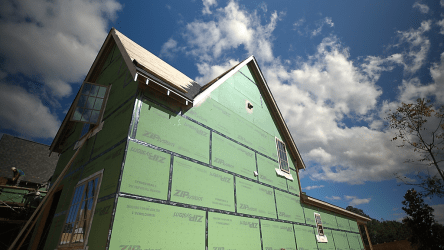 The Smart Neighborhood homes have Zip walls. (David Macon / Alabama NewsCenter)