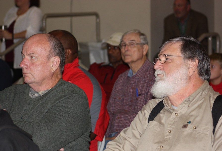Hunters listen to Sykes speak at the Tuscaloosa Civitan Club Hunting and Fishing Laws Update. (Robert DeWitt / Alabama NewsCenter)