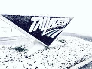 Snow covered much of central Alabama, offering a new perspective on familiar sights like Talladega Superspeedway. (Talladega Superspeedway)