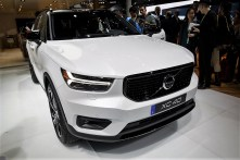 The Volvo AB XC40 sports utility vehicle (SUV) is displayed during AutoMobility LA. (Patrick T. Fallon/Bloomberg)