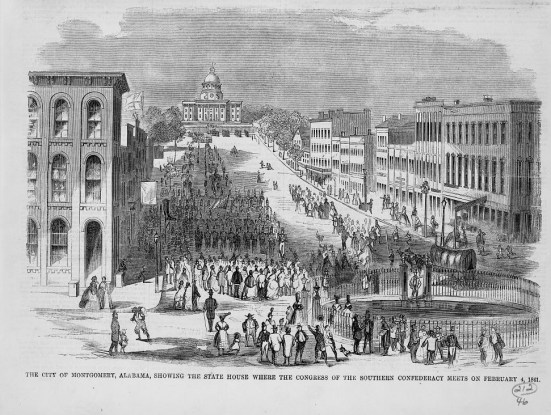 Confederate meeting at the capitol in Montgomery, Feb. 4, 1861. (Harper's Weekly, Library of Congress Prints and Photographs Division)