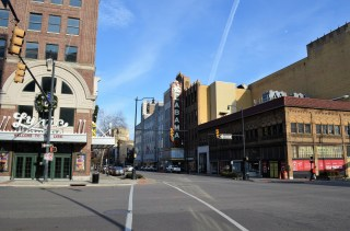 The restorations of the Alabama and Lyric Theatres have revived Birmingham's historic theater district. (Michael Tomberlin / Alabama NewsCenter)