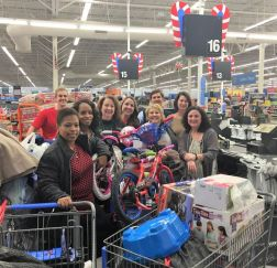 Eastern Division APSO volunteers had a ball shopping. (Breanna Walker)