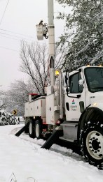 It's rare for snow to knock out power in Mobile, but it happened this weekend. (Alabama Power)