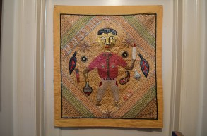Weber also has some Haitian art and Mexican ex-votos. (Anne Kristoff / Alabama NewsCenter)