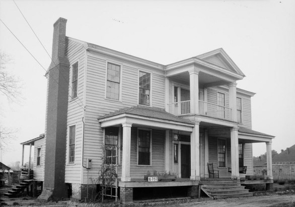 Governor Andrew Barry Moore's House in Marion, Perry County, AL. (Photograph by W.N. Manning, HABS, Library of Congress Prints and Photographs Division)