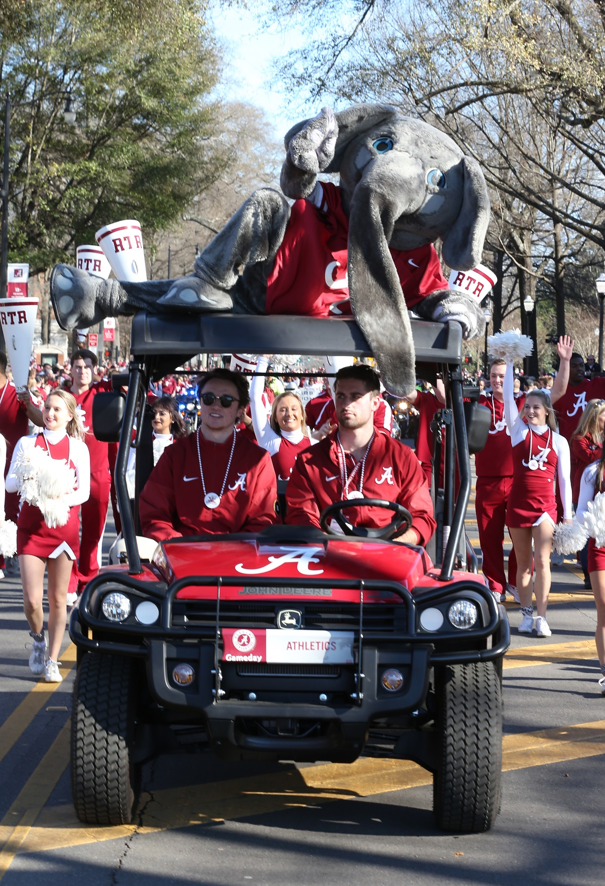 All of those involved in the Alabama football program got recognized with a spot in the parade. (Robert Sutton)