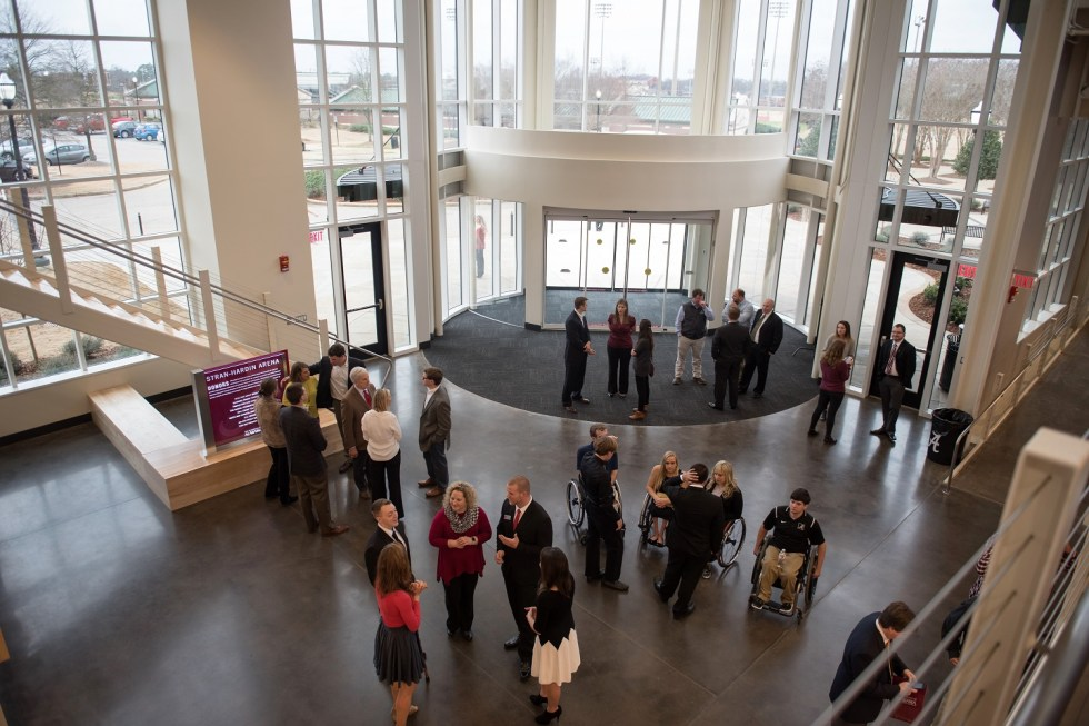 Attendees get a first look at the University of Alabama's brand-new Stran-Hardin Arena. (Zach Riggins / UA Strategic Communications)