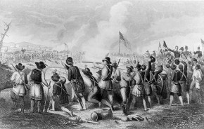 The Battle of New Orleans, Jan. 8, 1815. (Drawing by O. Pelton, Engraved by H. Billings, Library of Congress Prints and Photographs Division)
