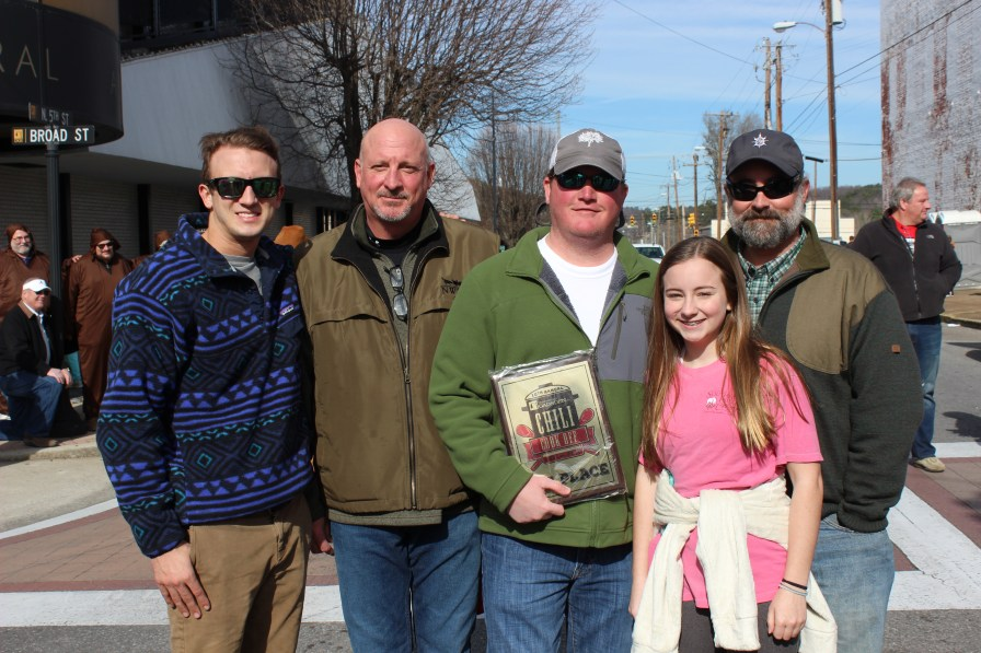 The winning team of the 10th Annual Downtown Gadsden Chili Cook-off, Dowdy's Combustible Chili. (Mary Wood)
