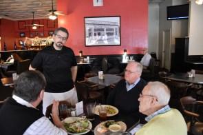 Marco Morosini chats with customers at Silvertron. (Karim Shamsi-Basha / Alabama NewsCenter)