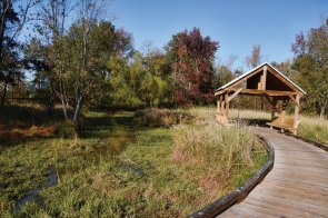 The Riverwalk at Coosa Landing completed early last year features a mile-long series of boardwalks piers docks pavilions and walking trails Karim Shamsi-Basha  Shorelines