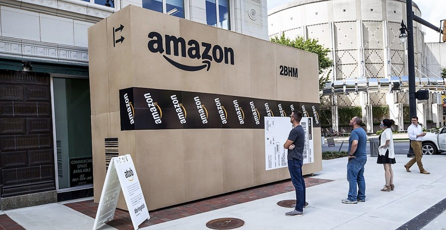 Birmingham's campaign for an Amazon headquarters was not immediately successful, but it raised the metro area's profile with Amazon, and within a year the company had announced plans to build a fulfillment center in nearby Bessemer. (file)