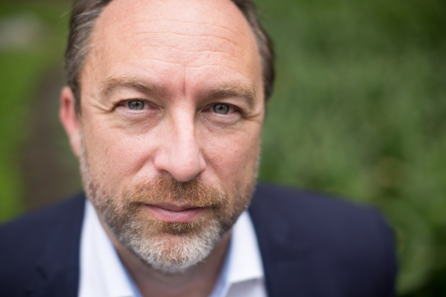 Jimmy Wales at Wikimania, 2015. (Vgrigas (WMF), Wikipedia)