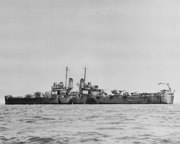 USS BIRMINGHAM (CL-62), c. February 1943. (Catalog #: NH 45699, Archives Branch, Naval History and Heritage Command, Washington, DC)