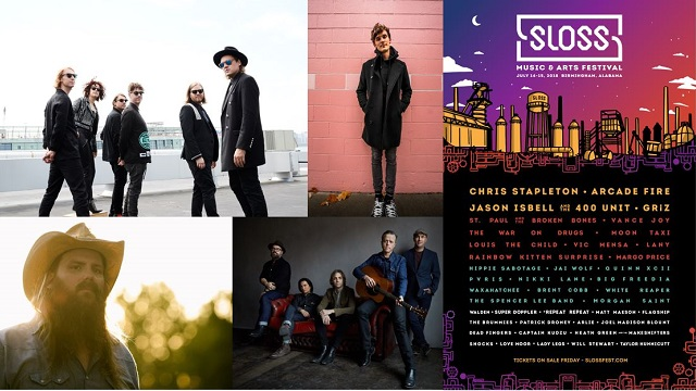 Sloss Fest 2018 will bring Jason Isbell, Chris Stapleton, Arcade Fire and more to Birmingham