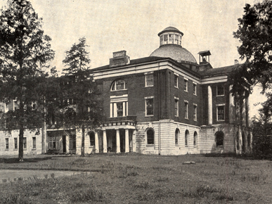 Tuscaloosa served as the Alabama state capitol from 1826-1845, when the government was moved to Montgomery, in the central part of the state. (From Encyclopedia of Alabama, courtesy of Alabama Department of Archives and History)