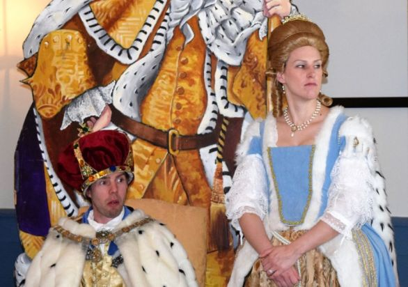 King George III and his imperious queen. (Donna Cope/Alabama NewsCenter)