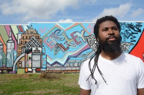 """The Color Project of Ensley is among the efforts of Brian """"Voice"""" Porter Hawkins and Ensley Alive to restore some vibrancy to the Birmingham community. (Karim Shamsi-Basha/Alabama NewsCenter)"""