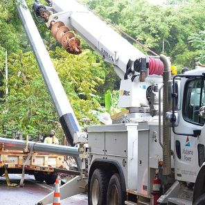 Alabama Power crews work to restore power outages in Puerto Rico. Crews have been working for just over a month. (Alabama Power file)
