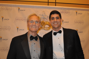 Former Gov. Don Siegelman attends the Masked Ball with his son. (Photo courtesy The Birmingham Times)